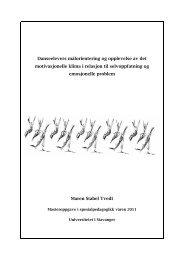 Last ned Tvedts oppgave - Forside - Universitetet i Stavanger