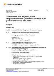 Studiebesök från Region Själland – Regionpolitiker och tjänstemän ...