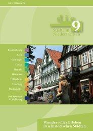 die 9 Städte in Niedersachsen