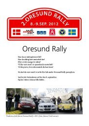 Oresund Rally