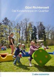 Download Broschüre Güxi Richterswil - Güxi Kinderkrippen