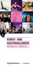 KUNST- UND KULTURKALENDER - Geschichte - HypoVereinsbank