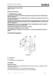 Draadloze automatic-schakelaar - Gira