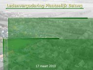 Presentatie ledenvergadering maart 2010 - Langezwaag