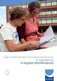 brochure over het schakelprogramma - Hogeschool-Universiteit ...