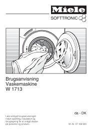 Brugsanvisning Vaskemaskine W 1713 - Hvidt & Frit