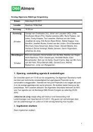 Verslag AAV 8 oktober 2011 - D66 Almere