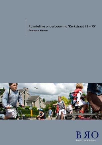 Ruimtelijke onderbouwing 'Kerkstraat 73 – 75' - Gemeente Sint ...