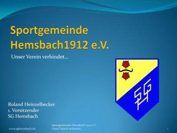 Sportgemeinde Hemsbach1912 e.v. - Badischer Sportbund Nord ev