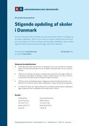 Stigende opdeling af skoler i Danmark - Arbejderbevægelsens ...
