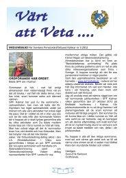 Nummer 3 2012 - Sveriges Pensionärsförbund