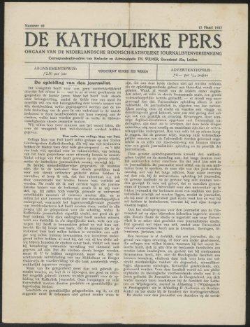 DE KATHOLIEKE PERS