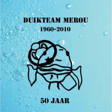 Merou bestaat 50 jaar! - Duikteam Merou