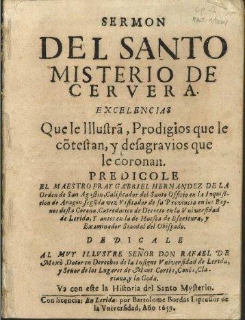 DEL SANT MISTERIO DE - Sol-Torres