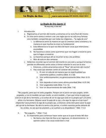 La Regla de Oro (parte 1) - Casa de Libertad