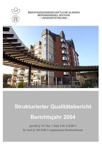 Strukturierter Qualitätsbericht Berichtsjahr 2004