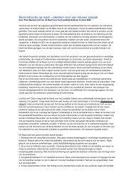 Artikel Reconstructie op maat - pleidooi voor een nieuwe aanpak