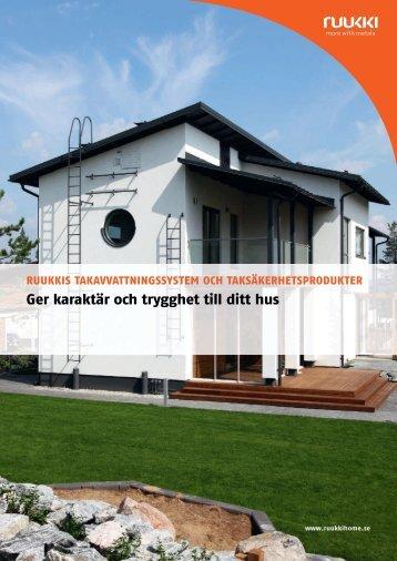 Takavvattning och taksäkerhetsprodukter - Ruukki