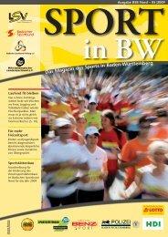 Sport in bw Nr. 05/09 - Badischer Sportbund Nord ev