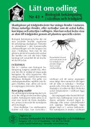 Biologisk bekämpning i växthus och trädgård