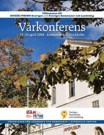 15–16 april 2008 · Armémuseum Stockholm - primo