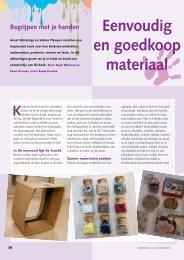 Begrijpen met je handen materialen - hetkind