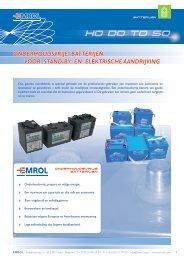 Folder van onderhoudsvrije batterijen - Emrol