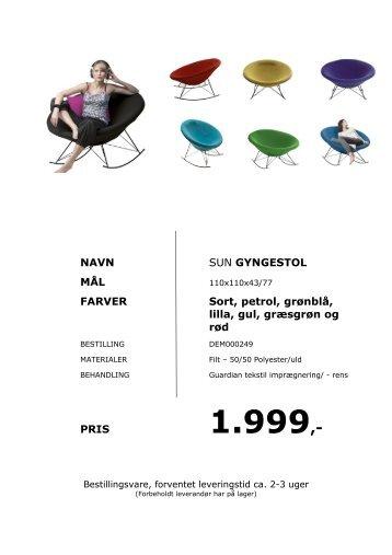 møbeloversigt - Butik Unik