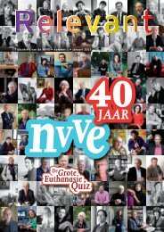 Tijdschrift van de NVVE • nummer 1 • januari 2013