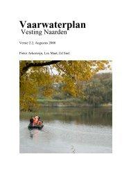 Vaarwaterplan - Vestingvaart Naarden