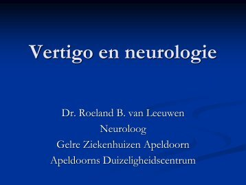 Vertigo en neurologie - hermankingma.com