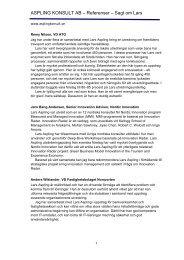 ASPLING KONSULT AB – Referenser – Sagt om Lars