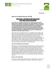 Hogeschool-Universiteit Brussel BRUSSEL INTENSIEVER ...