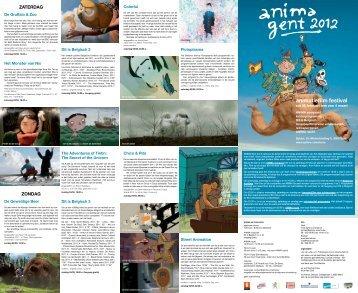 ANIMA Gent 2012 brochure - Sphinx Cinema