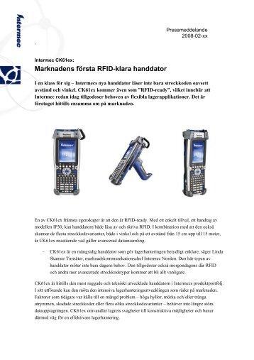Marknadens första RFID-klara handdator - Intermec