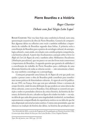 Pierre Bourdieu e a história - Topoi