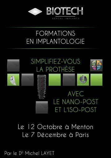AVEC LE NANO-POST ET L'ISO-POST ... - implant Kontact