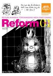 Läs första numret av Reform här. - Republikanska föreningen