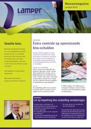 Nieuwsbrief juni/juli 2013 - Lamper accountants en adviseurs