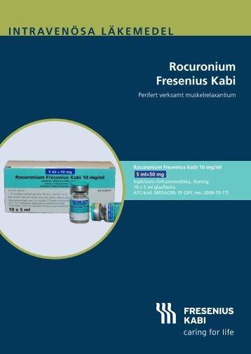 Intravenösa läkemedel rocuronium Fresenius kabi
