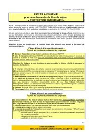 Protection subsidiaire - Préfecture