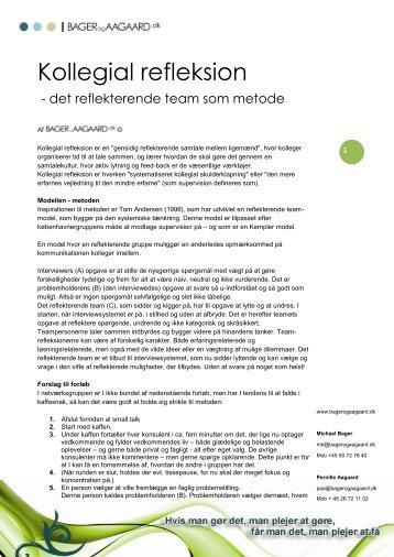 Kollegial refleksion - BAGER og AAGAARD.dk