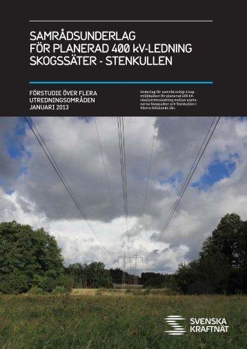 SAMRÅDSUNDERLAG FÖR PLANERAD 400 kV-LEDNING ...