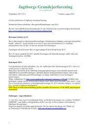 Nyhedsbrev august 2011 - Jagtborgs Grundejerforening