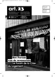 Art. 23 n° 30 - Rassemblement Bruxellois pour le Droit à l'Habitat