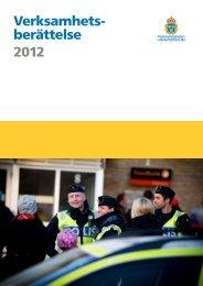 Verksamhetsberättelse 2012 - Polisen