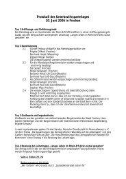 Protokoll des Unterbezirksparteitages 10. Juni 2006 in Frechen