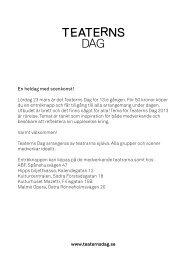 Program 2013 - Teaterns Dag