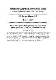 Psychotherapeutische Begleitung von Sterbenden - im ...