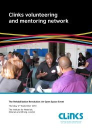 Clinks volunteering and mentoring network - Getting on Brilliantly